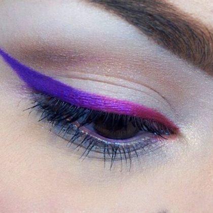 Transforme a maquiagem basicona em descolada! Aprenda como usar o delineador colorido!